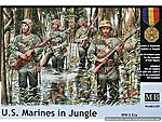 WWII USMC in Jungle (4) -- Plastic Model Military Figure -- 1/35 Scale -- #3589