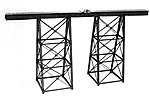 Tall Steel Viaduct 150' -- Model Railroad Building Accessory -- HO Scale -- #75514