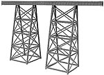 Tall Steel Viaduct - 15'' long x 8.1'' high -- Model Train Bridge -- N Scale -- #75518