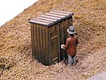 Outhouse -- Model Railroad Building Accessory -- HO Scale -- #80172