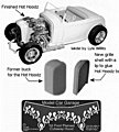 1932 Ford Flamed Hot Hoodz for RMX -- Plastic Model Vehicle Accessory Kit -- 1/25 Scale -- #2220