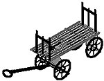 Baggage carts          4/ - Z-Scale (4)