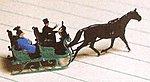 1889 Four-pssngr sleigh - Z-Scale