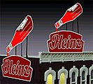 Heinz Ketchup Small Animated Neon Billboard Kit -- HO/N Scale Model Railroad Accessory -- #1082