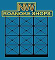 Norfolk and Western Roanoke Shops Animated Neon Billboard -- HO Scale Model Railroad Sign -- #3281