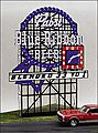 Pabst Blue Ribbon Animated Neon Large Billboard -- HO Scale Model Railroad Sign -- #4081