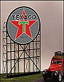 Texaco Animated Neon Small Billboard -- N Scale Model Railroad Billboard -- #5182