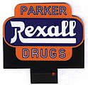 Rexall Animated Neon Small Billboard Kit -- N Scale Model Railroad Billboard -- #7582