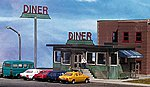 PARKWAY DINER KIT -- HO Scale Model Railroad Building -- #80100
