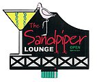 The Sandpiper Lounge Animated Neon Billboard -- Model Railroad Billboard Kit -- #8681