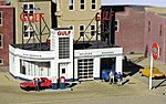 Gulf Gas Station Kit -- HO Scale Model Railroad Building -- #879300