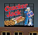 Cracker Jack Animated Neon Billboard -- HO Scale Model Railroad Sign -- #880101