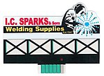 I.C. Sparks Animated Neon Billboard Kit -- Model Railroad Accessory -- #9382
