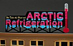 Arctic Refrigeration Medium Animated Neon Billboard Kit -- Model Railroad Accessory -- #9582