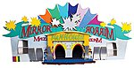 Mirror Maze Fun House Circus Ride - Decorated Kit -- N Scale Model Train Building -- #49990502