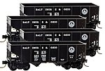 33' 2-Bay Rib-Side Hopper 4-Car Runner Pack - Ready to Run -- Baltimore & Ohio #324752, 324759, 324760, 324793 (black, 13-States Logo) - Z-Scale