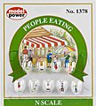People Eating -- N Scale Model Railroad Figure -- #1378