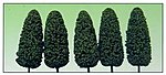 Dark Green Summer 8'' Trees (5) -- O Scale Model Railroad Tree -- #1436
