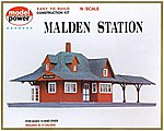 Malden Station Kit -- N Scale Model Railroad Building -- #1524