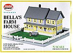 Bella's Farm House Kit -- N Scale Model Railroad Building -- #1559