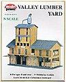 Lumber Yard Kit -- N Scale Model Railroad Building -- #1565