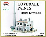 Coverall Paints Factory Deluxe Building Kit -- N Scale Model Railroad Building -- #1566