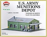 US Army Munitions Depot Kit -- N Scale Model Railroad Building -- #1574