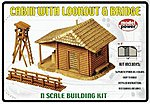 Cabin with Lookout & Bridge Kit -- N Scale Model Railroad Building -- #1582