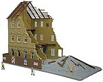 Building Under Demolition -- N Scale Model Railroad Building -- #2584