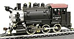 0-6-0 Tank Switcher Santa Fe #117 -- HO Scale Model Train Steam Locomotive -- #393001