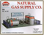 Natural Gas Supply Station Kit -- HO Scale Model Railroad Building Accessory -- #417