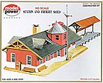 Station & Freight Shed Kit -- HO Scale Model Railroad Building -- #427