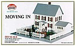 Moving In (2-Story House/Garage/Accy) Kit -- HO Scale Model Railroad Building -- #484