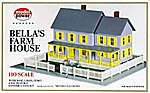 Bella's Farm House Kit -- HO Scale Model Railroad Building -- #490