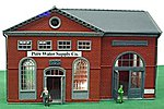 Pure Water Supply Co. Lighted Built-Up -- HO Scale Model Railroad Building -- #563