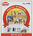 Postal Workers -- HO Scale Model Railroad Figure -- #5785