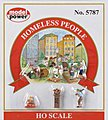 Homeless People -- HO Scale Model Railroad Figure -- #5787