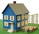 Mr. Rodger's House Lighted Built-Up -- HO Scale Model Railroad Building -- #585