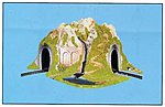 CURVED TUNNEL -- O Scale Model Railroad Tunnel -- #6091