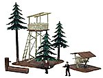 Ranger Lookout with Trees Built-Up -- HO Scale Model Railroad Building -- #644