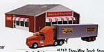 Truck Stop Built-Up with Truck -- HO Scale Model Railroad Building -- #767