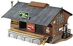 1940 Era Rail Depot B/UP -- HO Scale Model Railroad Building -- #775