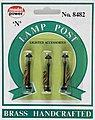 Boulevard Lamp Clear (3) -- N Scale Model Railroad Street Light -- #8482