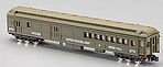 Heavyweight Combine -- United States Army #8770 Troop Carrier/Mess Hall (olive) - N-Scale