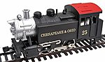 Steam 0-4-0 Chesapeake & Ohio Tank Switcher -- HO Scale Model railroad Steam Locomotive -- #96509