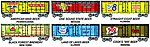 41' Reefer Beer Can Cars 6-Pack -- HO Scale Model Train Freight Car -- #98706