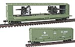 US Army Tank Buster Hidden Gun Q - Box Car -- HO Scale Model Train Freight Car -- #99162