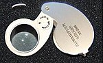 25mm LED Lighted Jeweler's Loupe Magnifier 30x Power