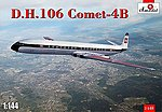 DH106 Comet 4B Commercial Jetliner -- Plastic Model Airplane Kit -- 1/144 Scale -- #1448