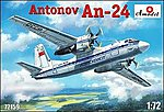 Antonov An24 Civilian Aircraft -- Plastic Model Airplane Kit -- 1/72 Scale -- #72159
